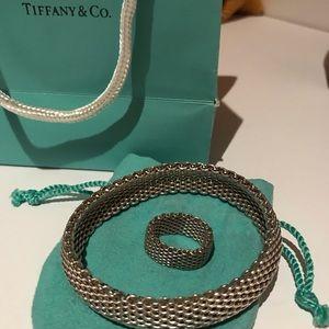Tiffany & Co. Somerset mesh bracelet & ring